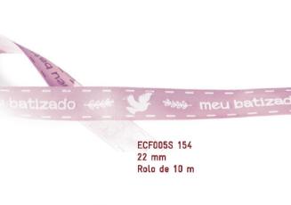 Fita Estampada Progresso Cetim 22mm - ECF005S 154 10mts