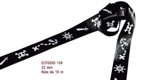 Fita Estampada Progresso Cetim 22mm - ECF005S 159 10mts