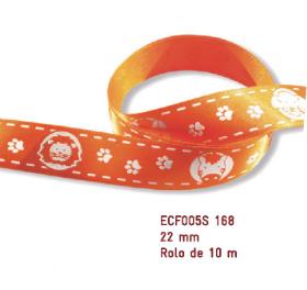 Fita Estampada Progresso Cetim 22mm - ECF005S 168 10mts