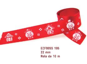Fita Estampada Progresso Cetim 22mm - ECF005S 195 10mts