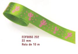 Fita Estampada Progresso Cetim 22mm - ECF005S 202 10mts