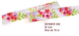 Fita Estampada Progresso Cetim 22mm - ECF005TR 032 10mts