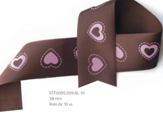 Fita Estampada Progresso Cetim 38mm - ECF009S 059 10mts