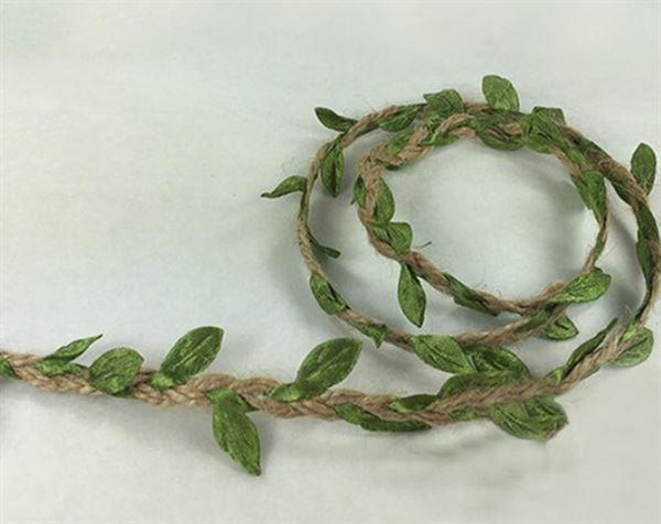 Fita Rústica com folhas - 5 metros