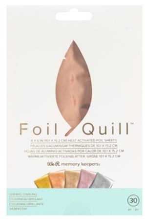 Foil em Folha 10x15 para Foil Quill We R - 30 Unidades