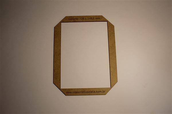 Gabarito MDF tipo moldura -  10,5x14,85cm - A6 - Encadernação e Cartonagem
