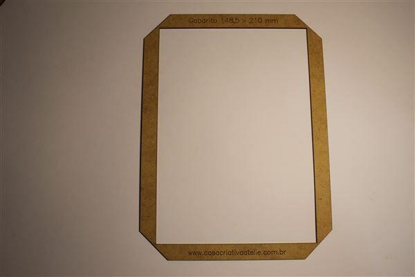 Gabarito MDF tipo moldura -  14,85x21cm - A5 - Encadernação e Cartonagem