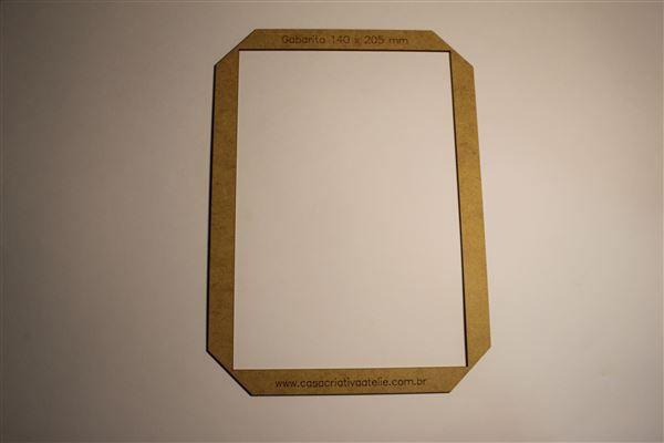 Gabarito MDF tipo moldura -  14x20,5cm - Encadernação e Cartonagem
