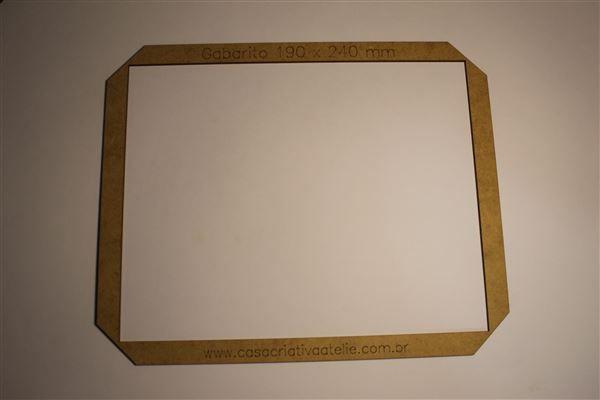 Gabarito MDF tipo moldura -  19x24cm - Livro do Bebê - Encadernação e Cartonagem