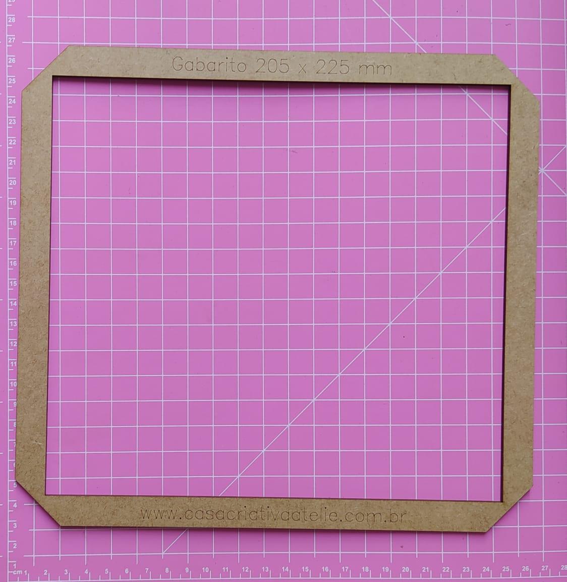Gabarito MDF tipo moldura -  20,5x22,5cm - Álbum do Bebê - Encadernação e Cartonagem