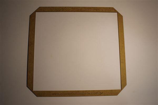 Gabarito MDF tipo moldura -  21,5x23cm - Álbum do Bebê - Encadernação e Cartonagem
