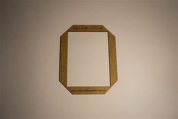 Gabarito MDF tipo moldura -  8,5x11,5cm - Bloquinho - Encadernação e Cartonagem