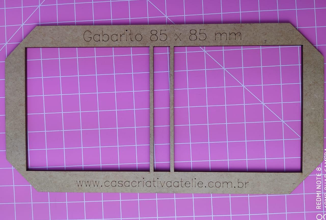 GABARITO MDF TIPO MOLDURA DUPLA COM LOMBADA - 8,5X8,5CM - ESPECIAL PARA POST-IT