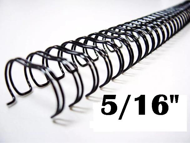 Garra Wire-O Espiral (c/ 5 unidades) 3x1 Encadernação 5/16 P/ 50 Fls A4