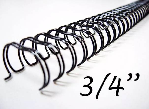 Garra Wireo Espiral 5un. 2x1 Encadernação 3/4 P/ 140 Fls A4