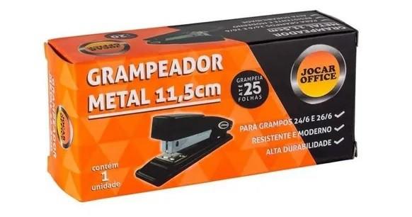 GRAMPEADOR METAL JOCAR PRETO P/25FLS 11,5CM 93013 - LEONORA