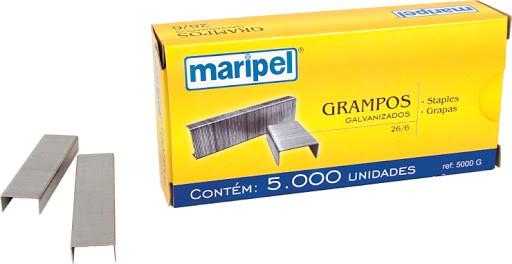 Grampo para Grampeador 26/6 galvenizado 5.000 grampos - Maripel