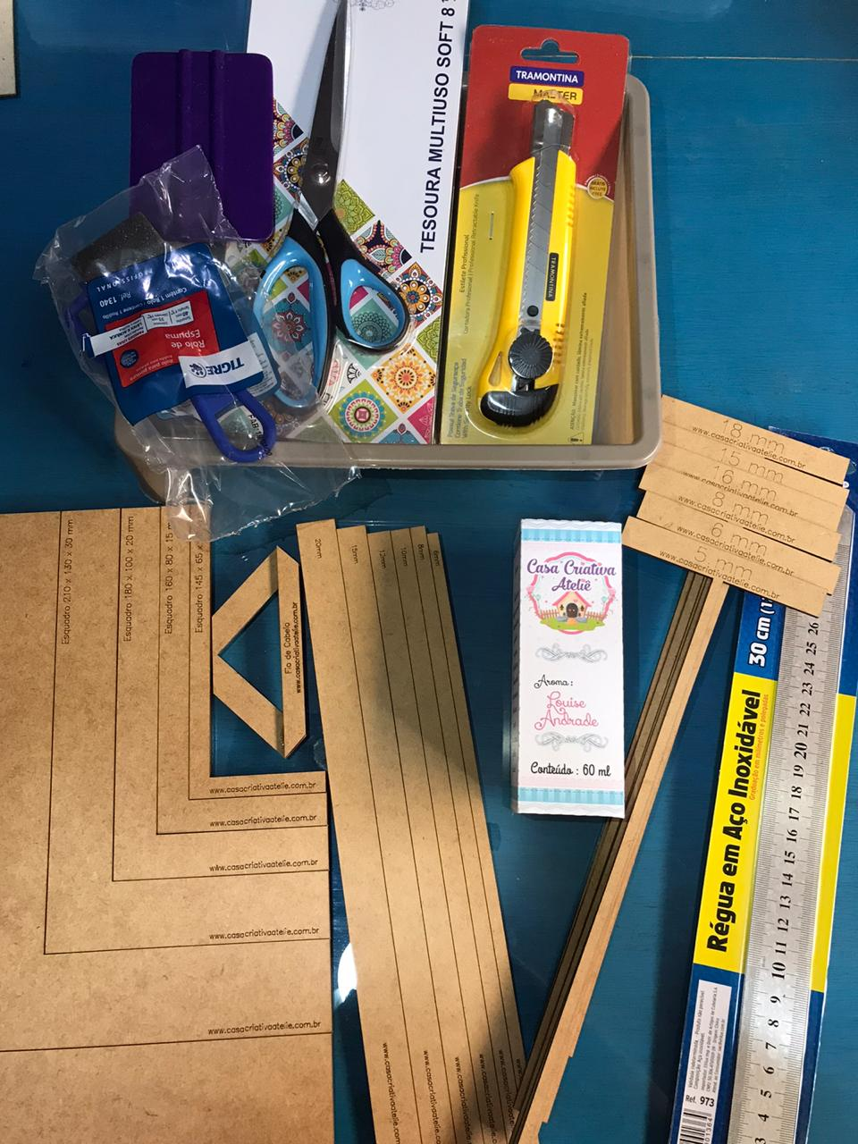 Kit básico para cartonagem - By Louise Andrade