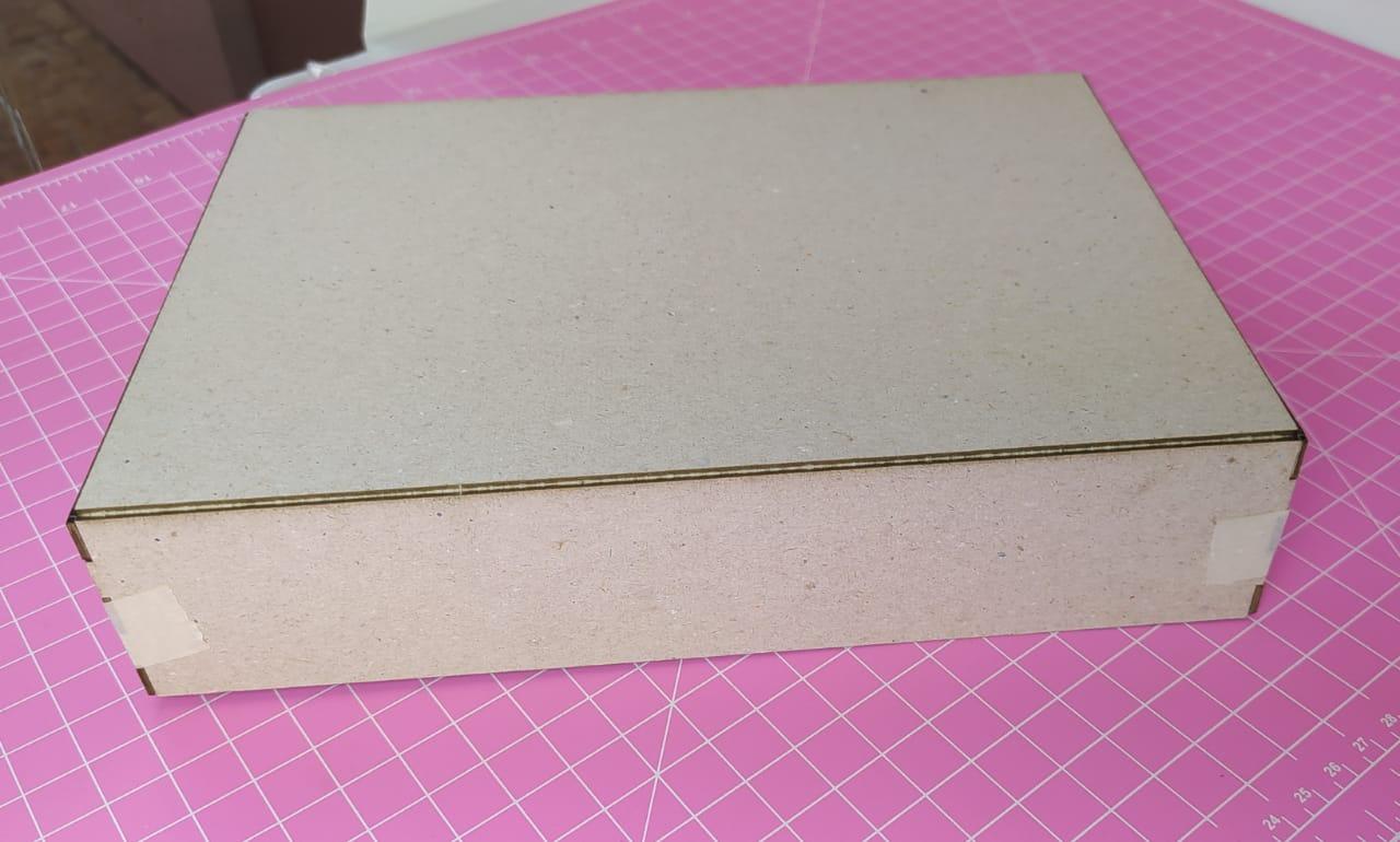Kit Cartonagem - Caixa com tampa  23x16x12 - 5 unidades