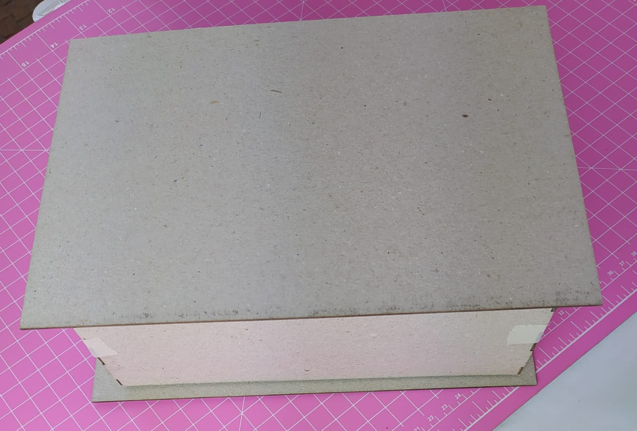 Kit Cartonagem - Caixa formato livro 24X22X10 - 5 unidades