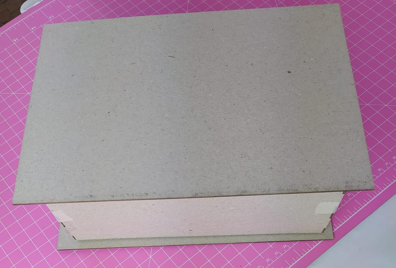 Kit Cartonagem - Caixa formato livro  22x16x9 - 5 unidades