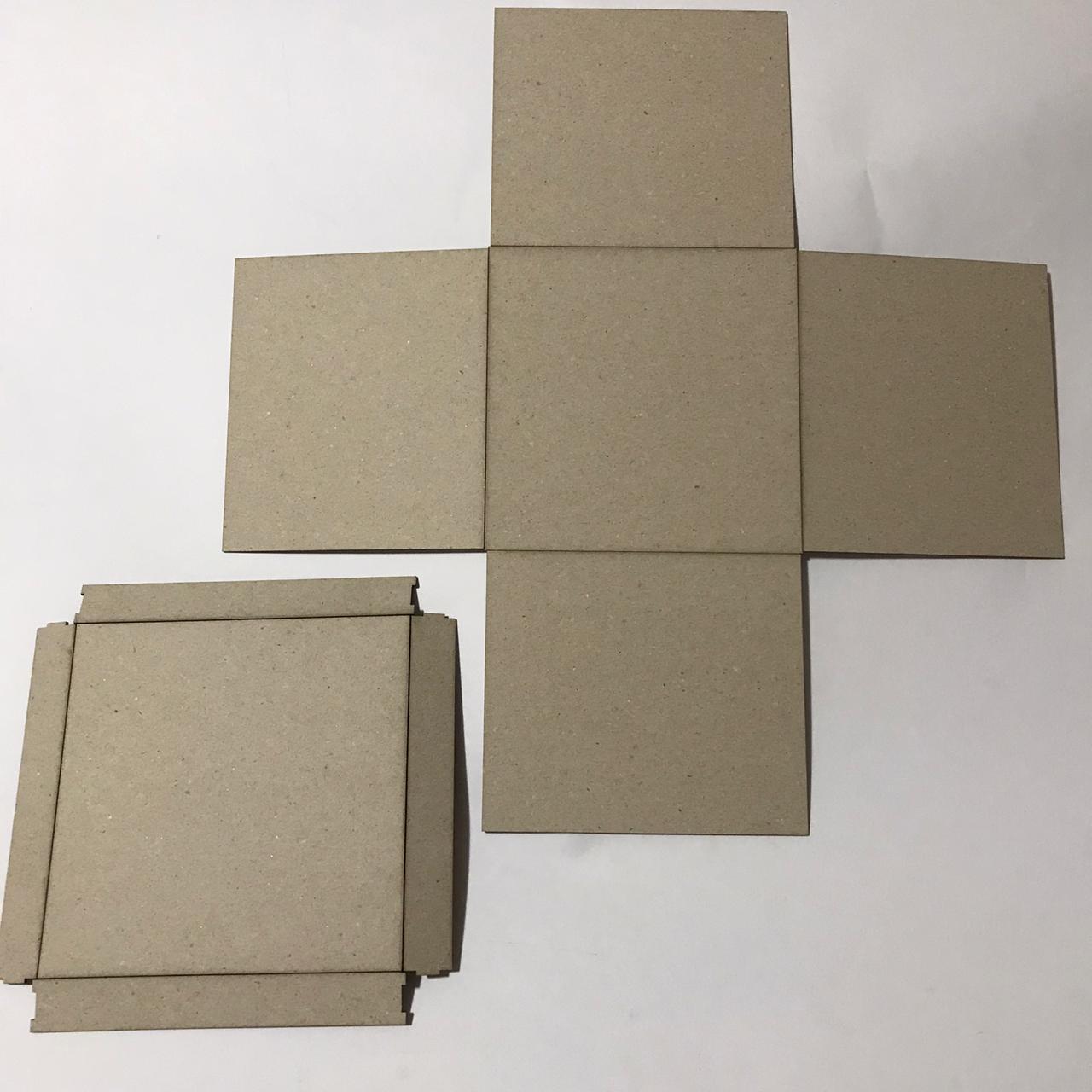 Kit Cartonagem - Caixa Quadrada Explosão - 5 unidades