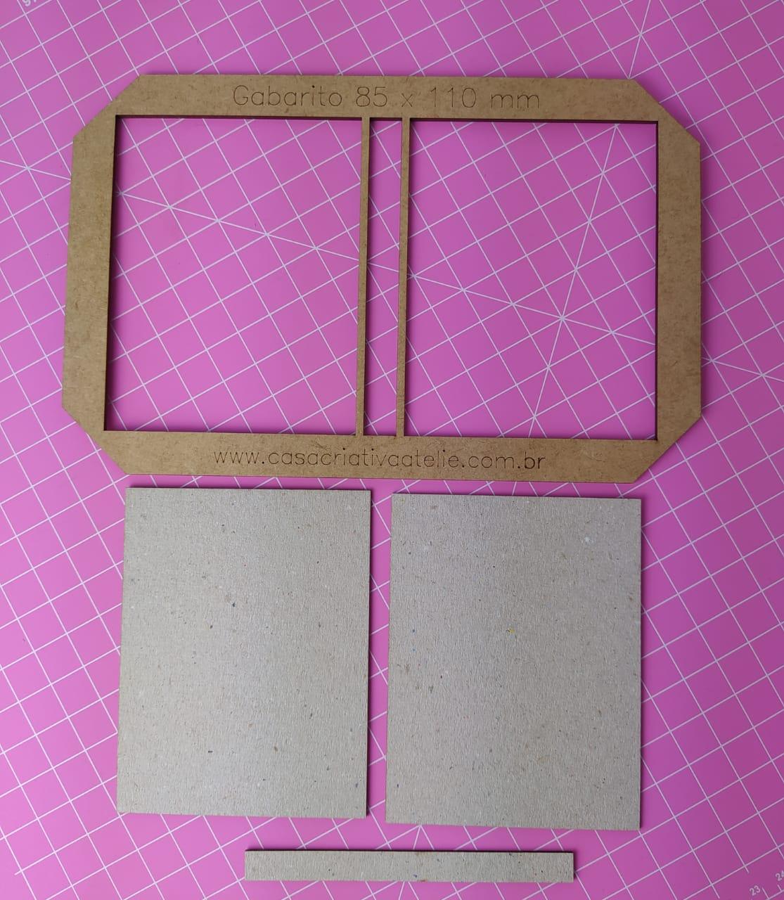Kit Post it (Gabarito + 12 conjuntos de Papelão Cinza Tipo Holler) - 8,5 x 11,0 cm