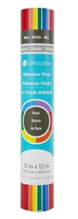 Kit Vinil Silhouette - Cores Brilhantes - 6 folhas - 30,5 x 30,5 cm
