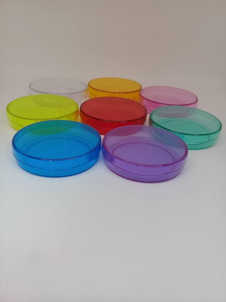 Latinhas 5 cm transparentes ou opacas com 100 unidades