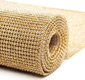 Manta de Strass Ouro com Topázio 45cm