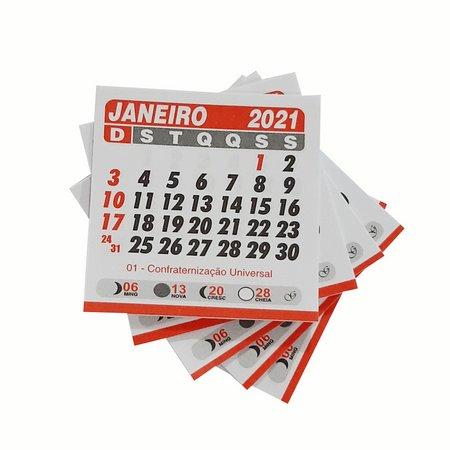 Mini Calendário 2021 - 5X5CM - 100 unidades