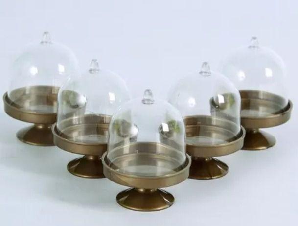 Mini cúpula Dourada Leitosa - 10 unidades