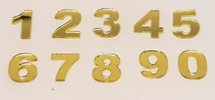 Números em Acrílico com 10 pçs