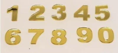 Números em Acrílico com 10 peças - 7cm