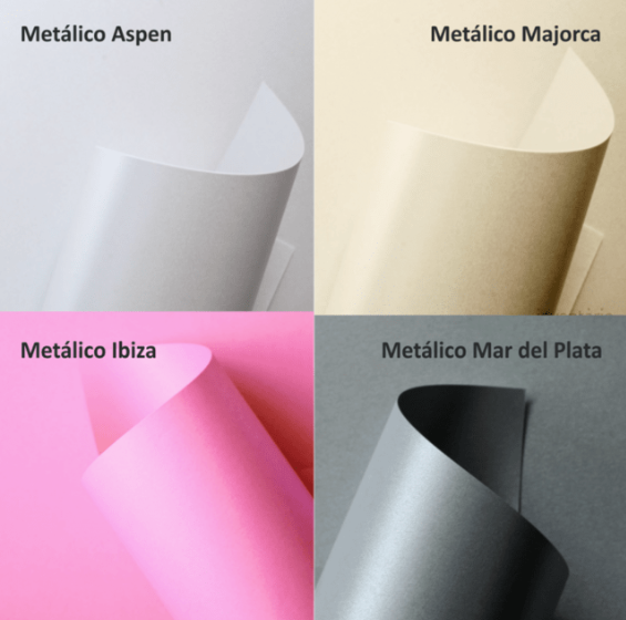 Papel Color Plus Metalizado - A4 - 250g/m² - 10 Folhas
