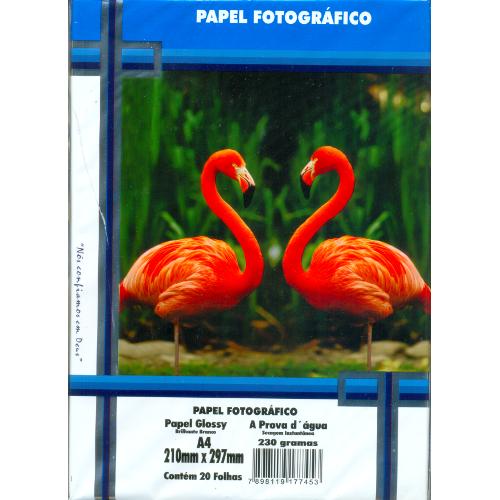 Papel Fotográfico 80 gr A4 Auto Adesivo - Pacote com 20 folhas - Masterprint