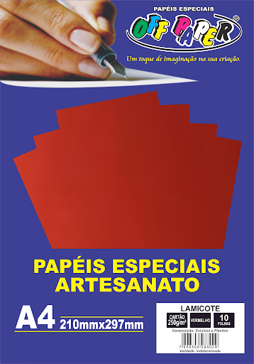 Papel Lamicote A4 250g c/ 10 Folhas - Off Paper