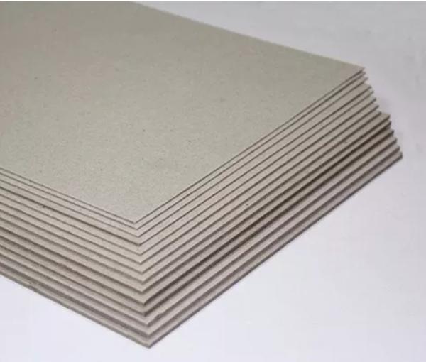 Papelão Cinza Tipo Holler 21,5x23cm Cartonagem - 10 folhas