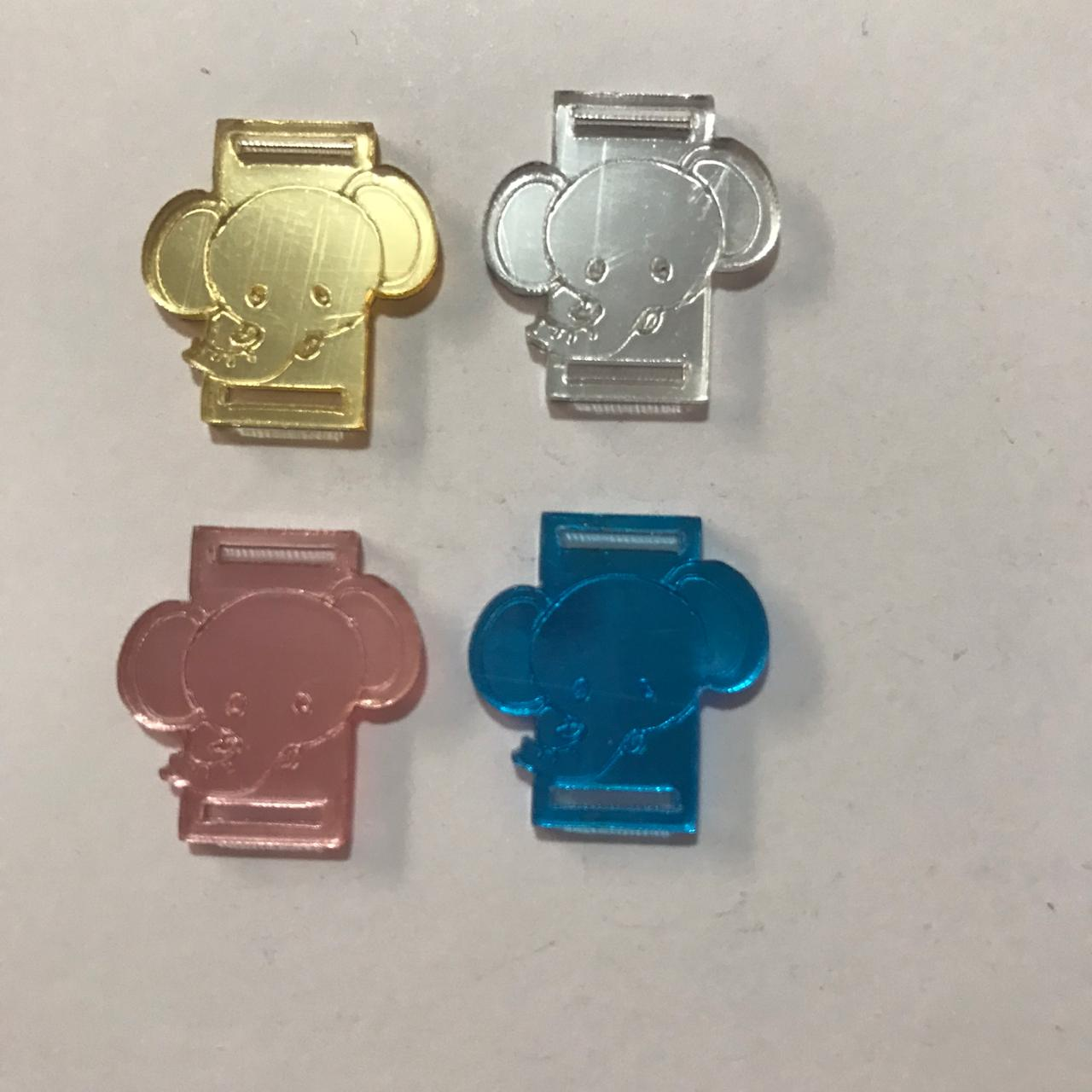 Passante para Elástico - Elefante - 2cm (10 unidades)