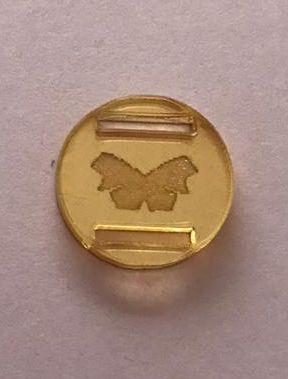 Passador de Elástico - Redondo - 1,5cm - Borboleta 02 (10 unidades)