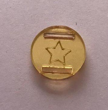 Passante para Elástico - Redondo - 1,5cm - Estrela contorno (10 unidades)