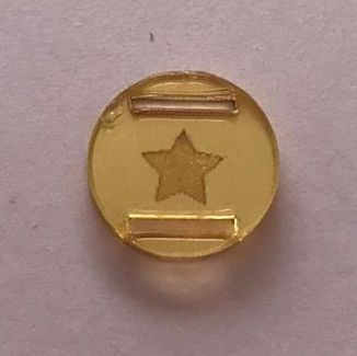 Passante para Elástico - Redondo - 1,5cm - Estrela vazada (10 unidades)