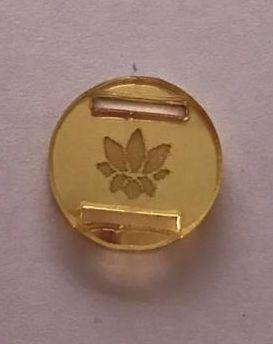 Passante para Elástico - Redondo - 1,5cm - Flor de lotus vazada (10 unidades)