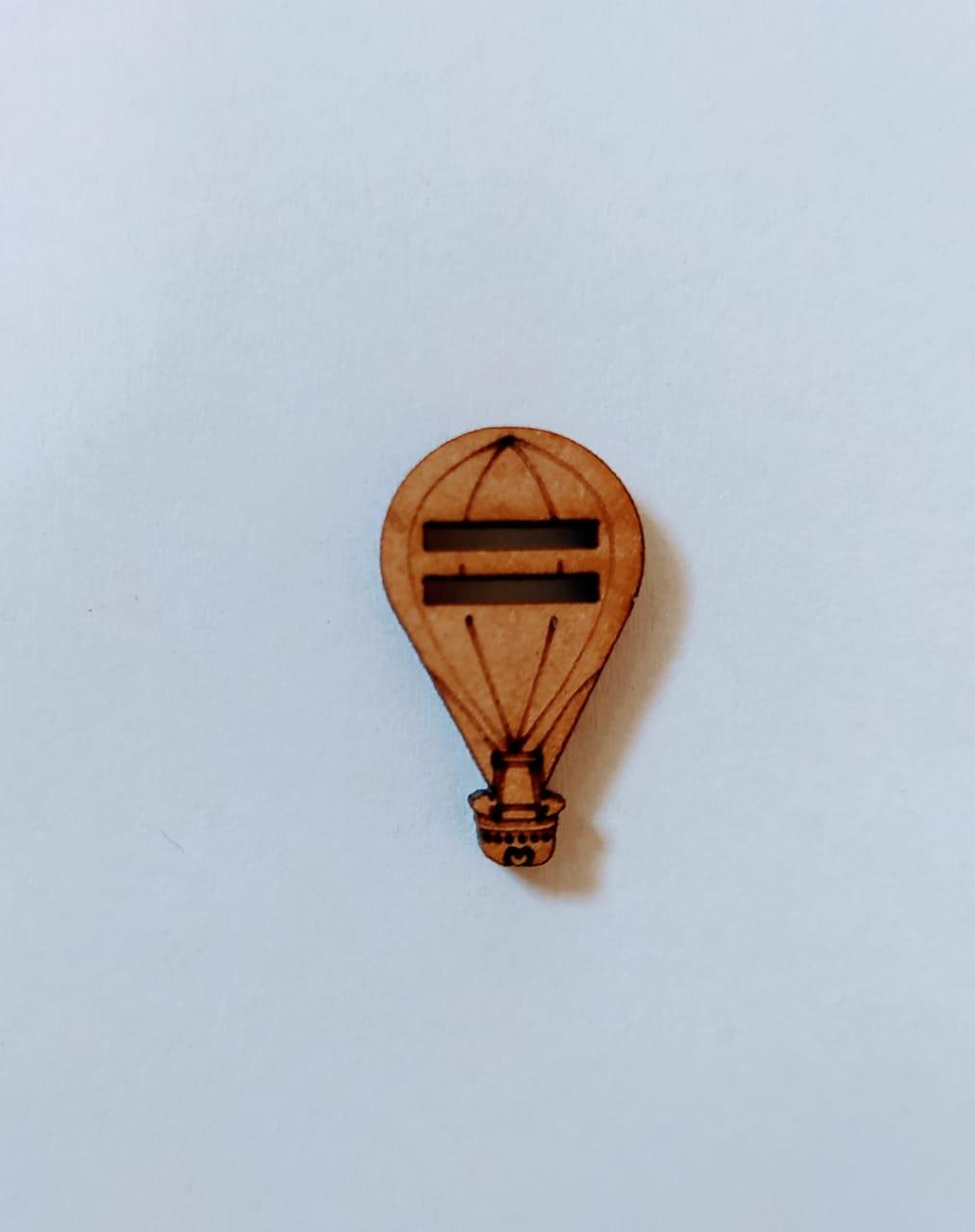 Passante para Elástico - Balão - 2cm (10 unidades) em MDF