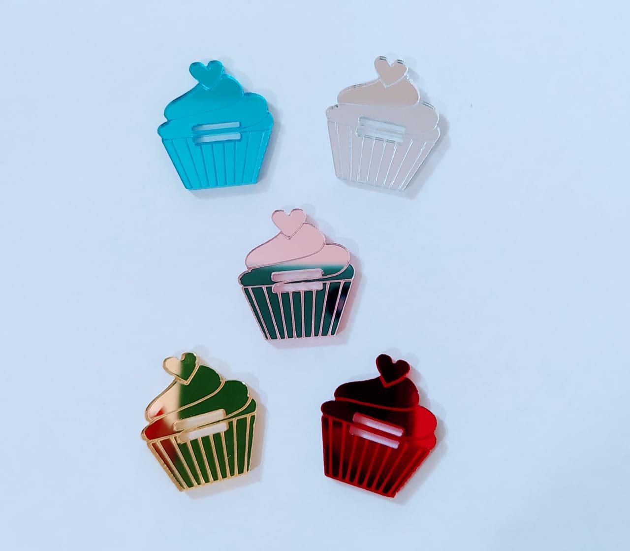 Passante para elástico - Cupcake - 2cm (10 unidades)