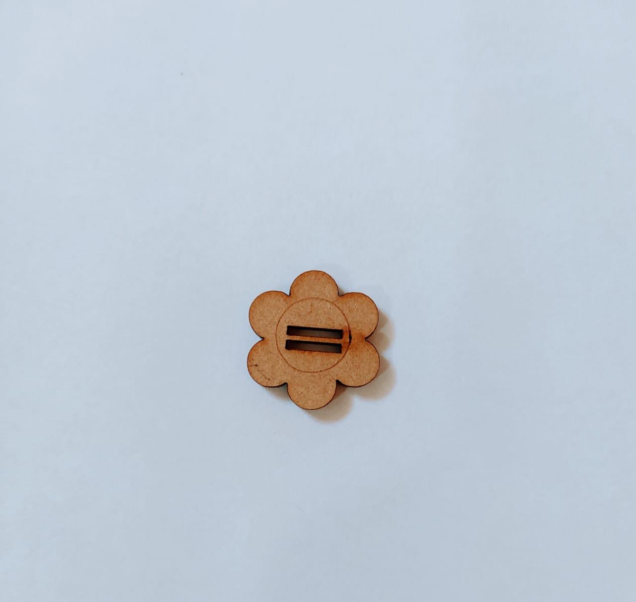 Passante para Elástico - Flor Margarida - 2cm (10 unidades) em MDF