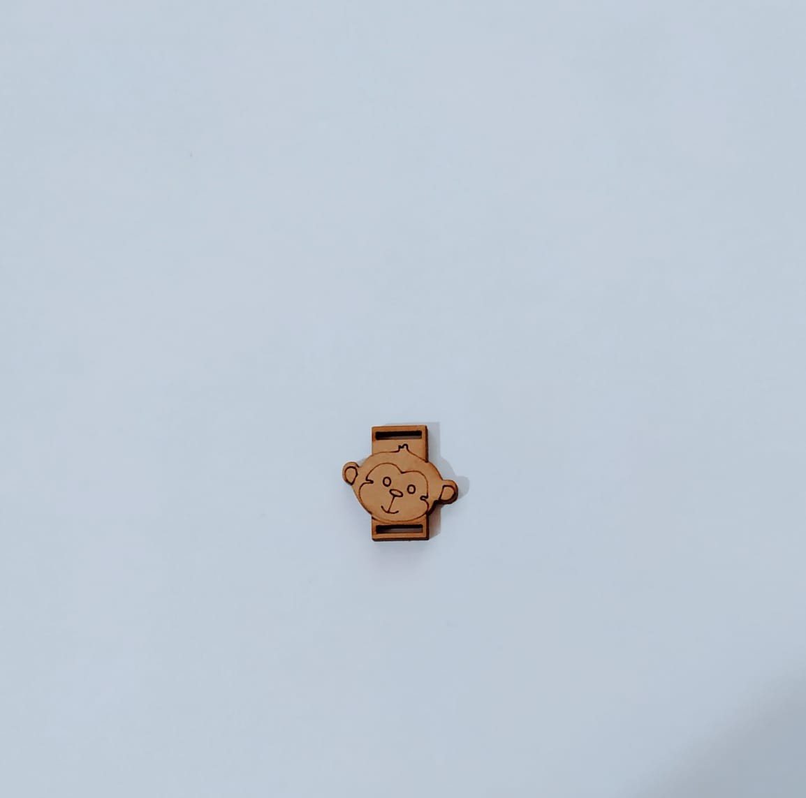 Passante para Elástico - Macaco - 2cm (10 unidades) em MDF