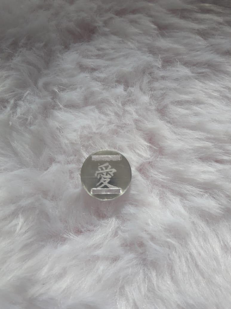 Passante para Elástico - Redondo - 1,5cm - Amor Vazado(10 unidades) - Outlet