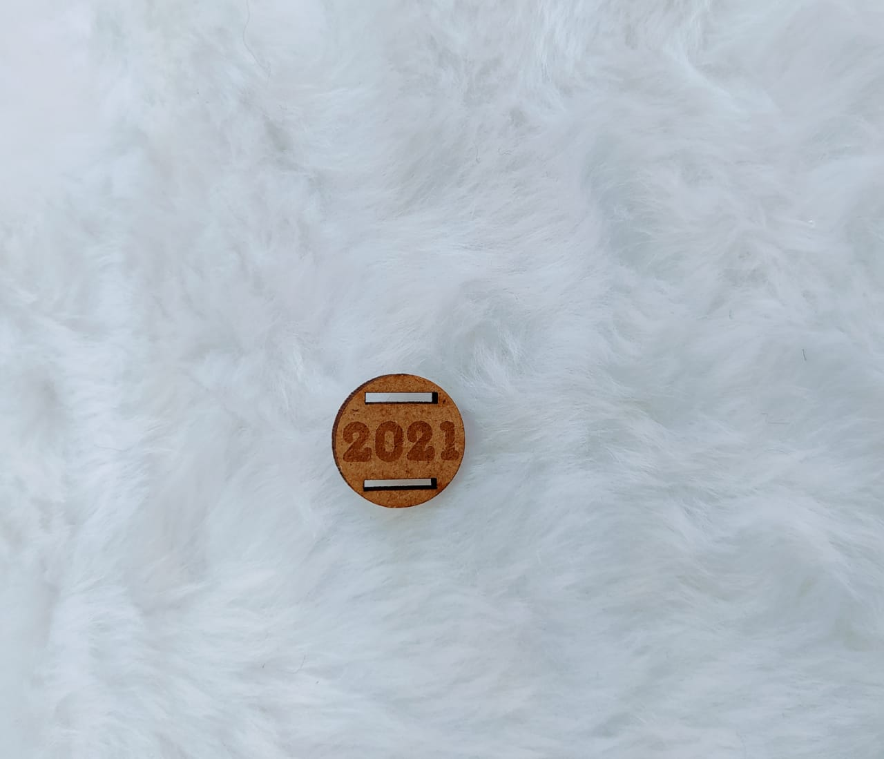 Passante redondo para elástico em MDF 1,5cm - 2021 - gravado c/ 10 unidades