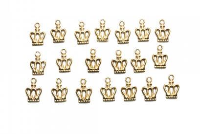 Pingente Coroa Realeza c/ 10 unidades